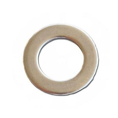 "DS Chrome Motorcycle Flat Washers 100-Pack 7/16"" SAE"