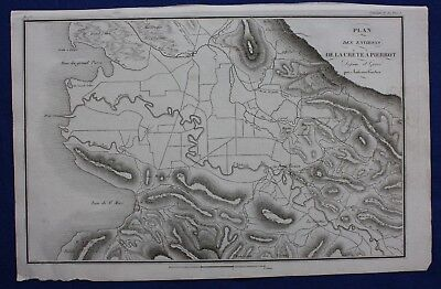 Original antique map, HAITI, ST MARC, BATTLE OF CRETE A PIERROT, Tardieu, c.1820