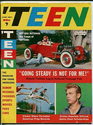 'Teen #1 6/1957-1st issue-James Dean-hot rods-Southern States Pedigree-FN