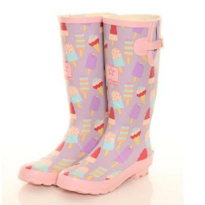 2c84643fe1e LADIES GIRLS FESTIVAL Fashion Funky Campervan Wellies Wellington ...