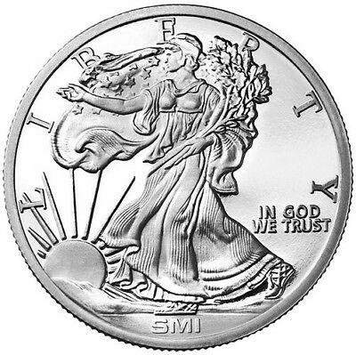 1 oz Sunshine Mint Walking Liberty Silver Round **NEW** .999 Fine
