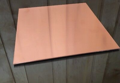 "1/8"" COPPER SHEET PLATE NEW 10""x10"" .125 THICK *CUSTOM 1/8 SIZES AVAILABLE*"