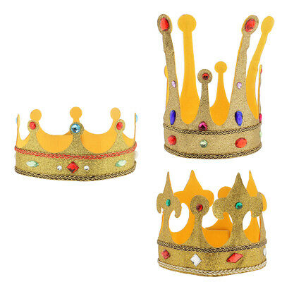 Royal King Queen Crown Hat Party Fancy Dress Kids Adult Costume Party Accessory