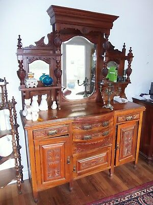 buffet herrenzimmerschrank aus der gr nderzeit ca 1880. Black Bedroom Furniture Sets. Home Design Ideas