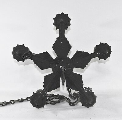 Antique Art Deco Accurate Cast Ceiling Light Fixture Chandelier Gothic Black