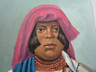 Native American Indian Portrait Painting On Canvas
