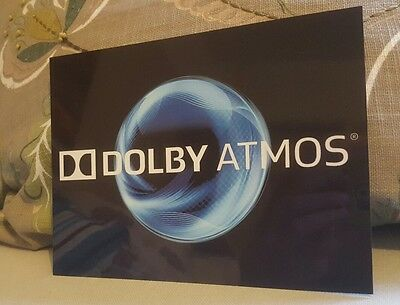 Dolby ATMOS BLUE Home Cinema metal sign sheen professional finish Theatre sign