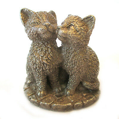 """Statue """"Two kittens."""" Silver 800. The total weight of 182 grams."""