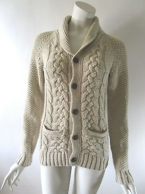 Gap Kids Cotton Blend Shawl Collar Cable Knit Cardigan Sweater Size XL (12)