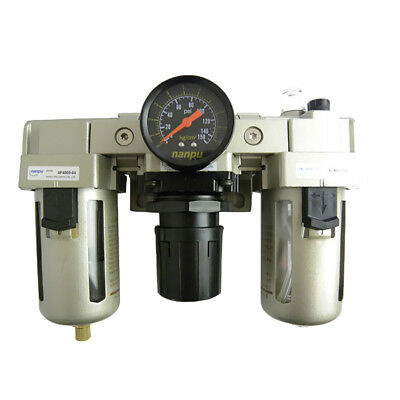 """PROFESSIONAL 1/2"""" Air Line Regulator Lubricator and Water Trap With Filter"""