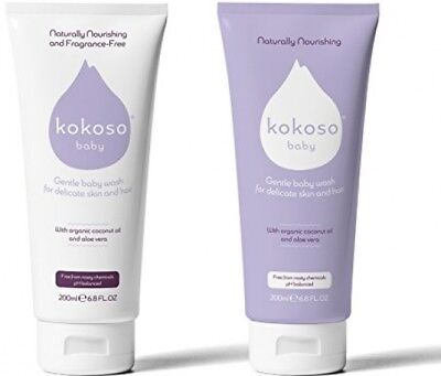 Kokoso Baby Wash for Skin and Hair ? Organic and Delicate (Softly Scented)