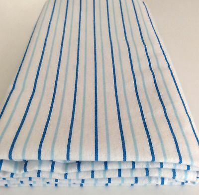 Blue Candy Stripe BabyWrap, Blanket, Swaddle,Large 100cm x 120cm,100% Cotton