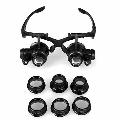 LED Magnifying Glasses Jeweller's Loupe Eye Jewelry Watch Repair Magnifier Glass