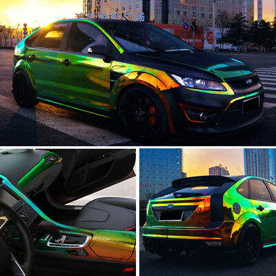 Holographic Rainbow Neo Chrome Car Vinyl Wrap Air Bubble Free Decal Sticker Film