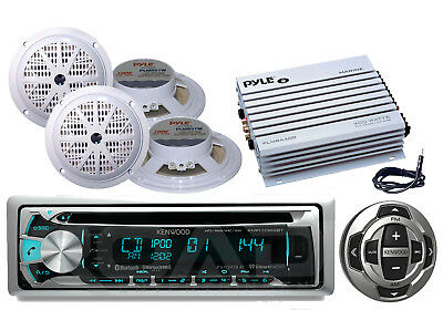 "5.25"" Speakers, Kenwood Bluetooth CD USB Radio/ Wired Remote, Amplifier, Antenna"