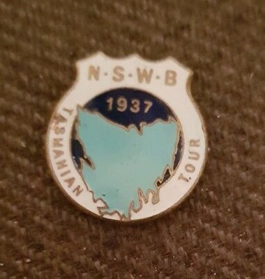 NSW Tour to Tasmania 1937 Bowling Club Badge **BACK REMOVED**