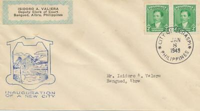 PHILIPPINES 2c Pair Dr Jose Rizal SG 662 CITY OF LEGASPI Inauguration Cover