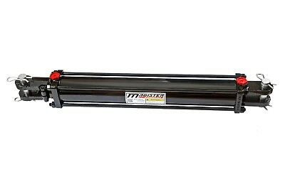 """Hydraulic Cylinder Tie Rod Double Action 4"""" Bore 24"""" Stroke 2500 PSI 4x24 NEW"""