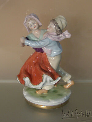 Scheibe-Alsbach Germany Porcelain Dancing Dutch Couple Figurine