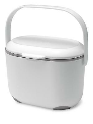 Addis 2.5 Litre Kitchen Compost Caddy, White/Grey Dispose of Food Waste 515631