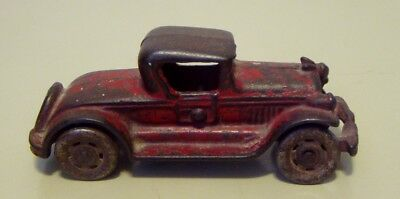 VINTAGE ANTIQUE 1930's CAST IRON TOY FORD COUPE - 5 INCH