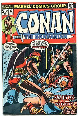 CONAN THE BARBARIAN #23 1973 MARVEL COMICS-FIRST RED SONJA vg/f