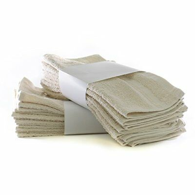 Classic Two Dozen Value Pack Terry Cloth Washcloths / Face Towels - 100% Cotton