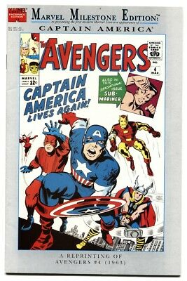 Marvel Milestone Edition: Avengers #4 1992 FIRST Captain America NM-
