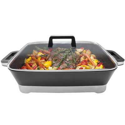 52cm Electric Frypan Large Non Stick Frying Pan Slow Fry Cooker Stove Banquet