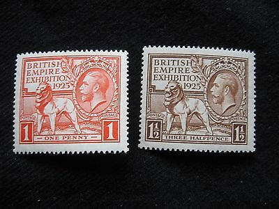 GB: 1925 Empire Exhibition MM (MH) Set of 2
