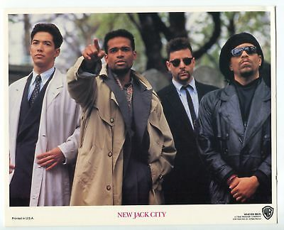 New Jack City-Ice-T-Mario Van Peebles-Russell Wong-8x10-Color-Still-NM