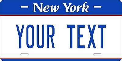 New York Blue License Plate Personalized Custom Car Bike Motorcycle Moped Tag