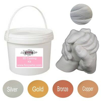 3D Casting Kit Holding Hands Family - Moulding powder plaster Mixing Bucket