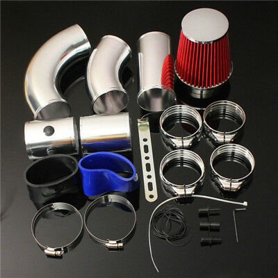 """3"""" Universal Performance Cold Induction Air Filter Racing Injection Intake Kit"""
