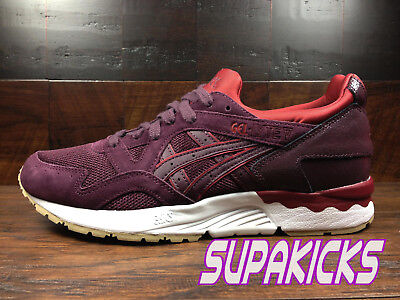 info for 0d3ff 7596f ASICS GEL-LYTE V 5 (Rioja Red) [H6Q4L-5252] SUEDE Running Mens