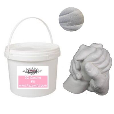 Couples Hand Wedding Kit Casting Kit + Bucket, Plaster Alginate Hand Valentines