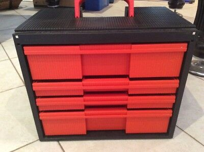 Storage case Draws  Containers Crafts LEGO Screws Tools Lot Of 2