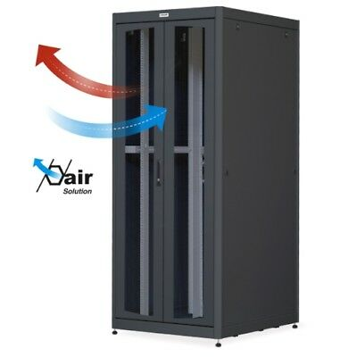 Cabinet Server Rack 19 800x1000 42U Black Double Door Grilled