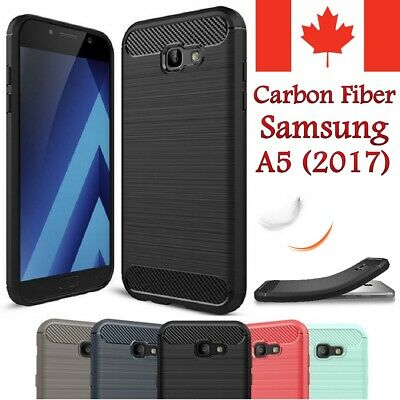 For Samsung Galaxy A5 2017 Case - Shockproof Carbon Fiber Soft TPU Hybrid Cover