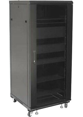 Cabinet Rack 19 600x600 27U for Audio Video Black I-CASE AV-2127BKTY