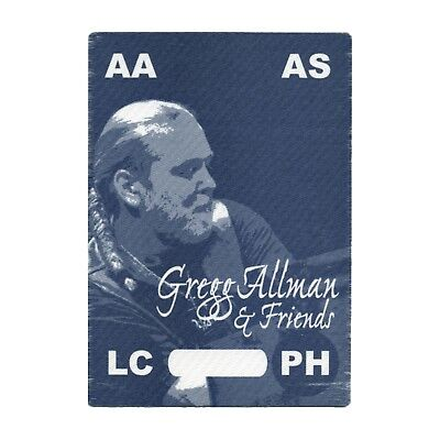 Gregg Allman authentic ALL ACCESS 2002 tour Backstage Pass
