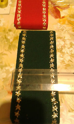 Christmas Cake Band, bookmarks, Bell Pulls 14ct Aida DMC 7cm x 1m Green