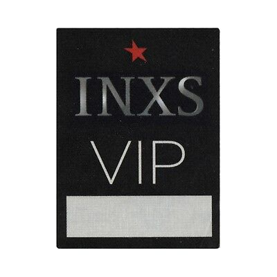 INXS authentic VIP 2000's tour Backstage Pass