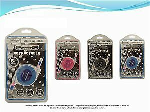 6Ft Retractable Iphone Flat Rope Usb Cable Case Pack 48 (2276002)