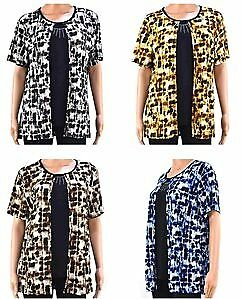 Women's Twofer Tops with Rhinestone - Sizes M-2XL Case Pack 72 (2279334)