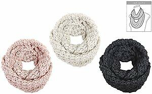 Women's Loose Knit Infinity Scarves with Lurex Case Pack 48 (2280409)