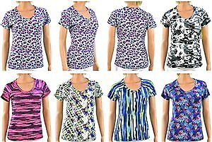 Women's Printed V-Neck T-Shirts Case Pack 72 (2280693)