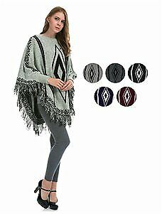 Women's Knit Ponchos Tapestry Print Case Pack 12 (2126497)