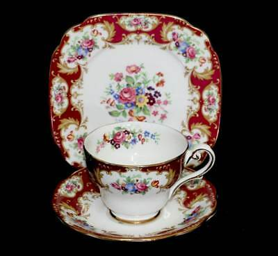 Vintage Royal Standard Lady Fayre stunningly pretty teacup trio