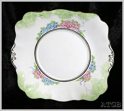 Vintage Royal Standard hand painted art deco trees cake sandwich plate